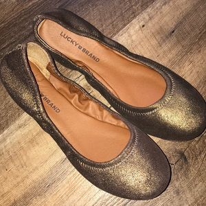 Lucky Brand Copper Shimmer Emmie Flats